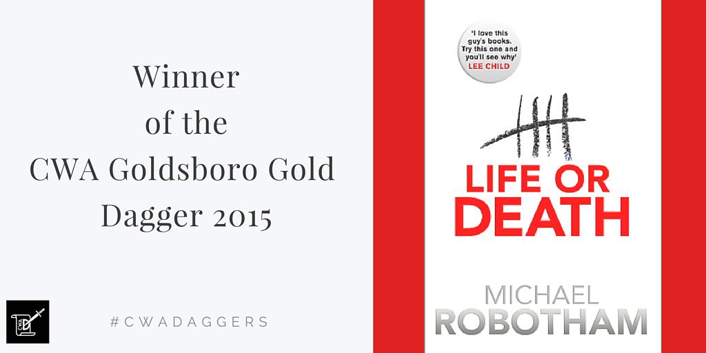 The winner of the CWA Goldsboro Gold Dagger 2015 is @michaelrobotham #cwadaggers http://t.co/2QWkrm6ktt