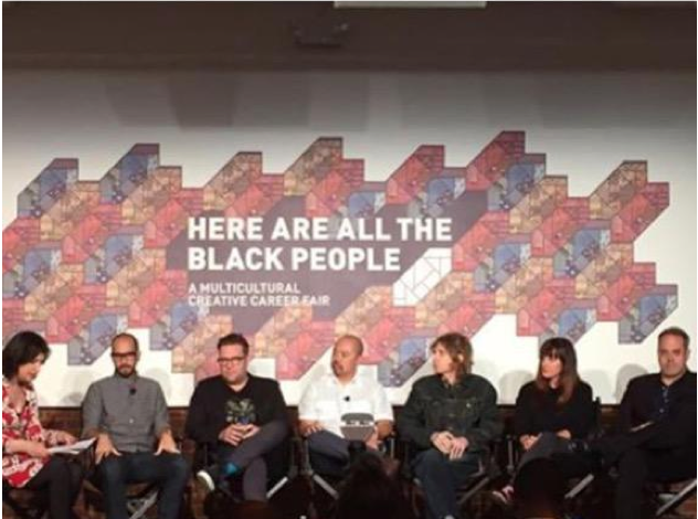 """Dept. of Can't Make This Shit Up: Panel at AdWeek called """"Here Are All The Black People"""" has no black people. http://t.co/DoMPM8Tn5b"""