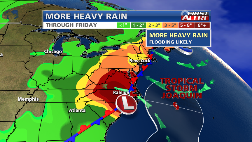 We're in a world of trouble if Joaquin moisture arrives here over the weekend. http://t.co/f63gaWJ6Wj http://t.co/Fw5MnE5kmX