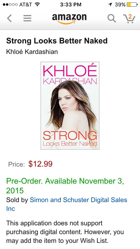 RT @MadAnders07: Pre-ordered my copy of  @khloekardashian new book! Can't wait ❤️❤️???????????????????????????? http://t.co/wh4AsO7nel