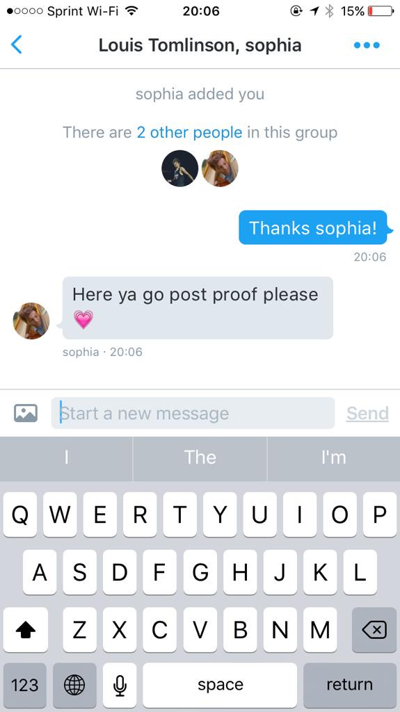 Louis DM. Thanks to @FIFTHTOMILLION and @princelarents http://t.co/pS8TOA99O6