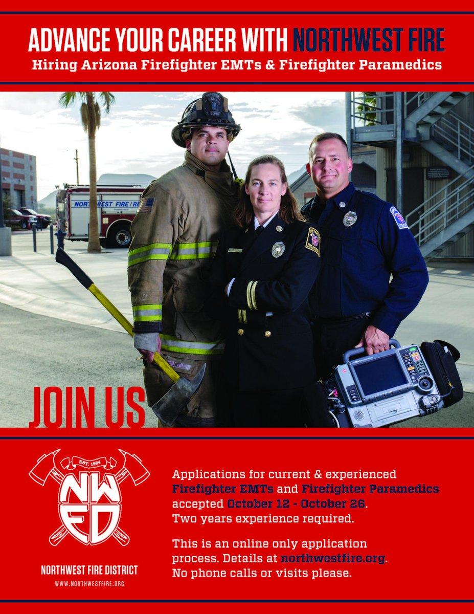 Hiring AZ Firefighter EMTs & Firefighter Paramedics. http://t.co/5vG0XGbIib for details. http://t.co/0JYo0ZcwUN