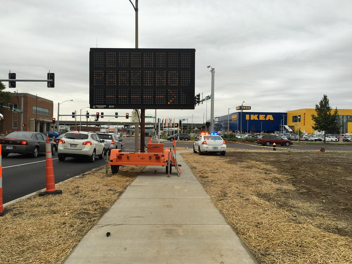 Very #STL event parking sign blocking sidewalk to #IKEA http://t.co/8Baqx8CMOf