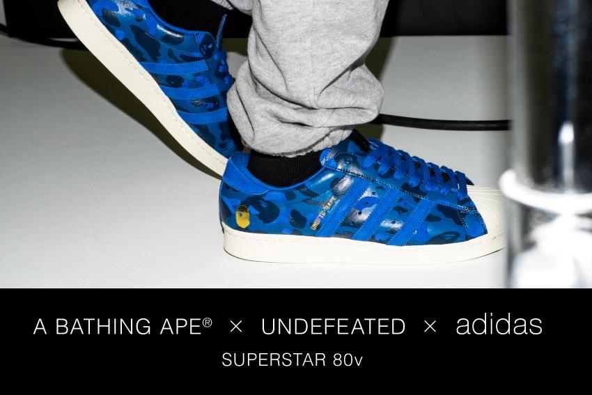 "A BATHING APE® x UNDEFEATED x adidas ""SUPERSTAR 80v"" http://t.co/Qs8tDvBCD7"