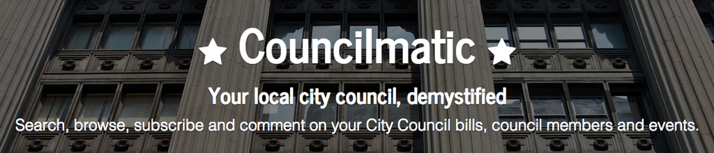 Announcing @Councilmatic! Track & understand your city government. Launching here #CFASummit: http://t.co/eVFFcRvXEQ http://t.co/S2ldS1lrl5