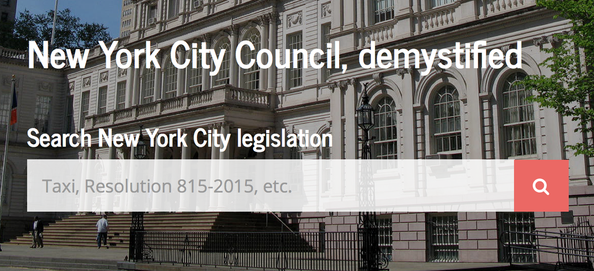 A HUGE #CivicTech ROAR!!!!   Check out NYC's @councilmatic!   E-Z 2 use @NYCCouncil? YES!  http://t.co/OimU45rjfJ http://t.co/2RGf3SWdcw