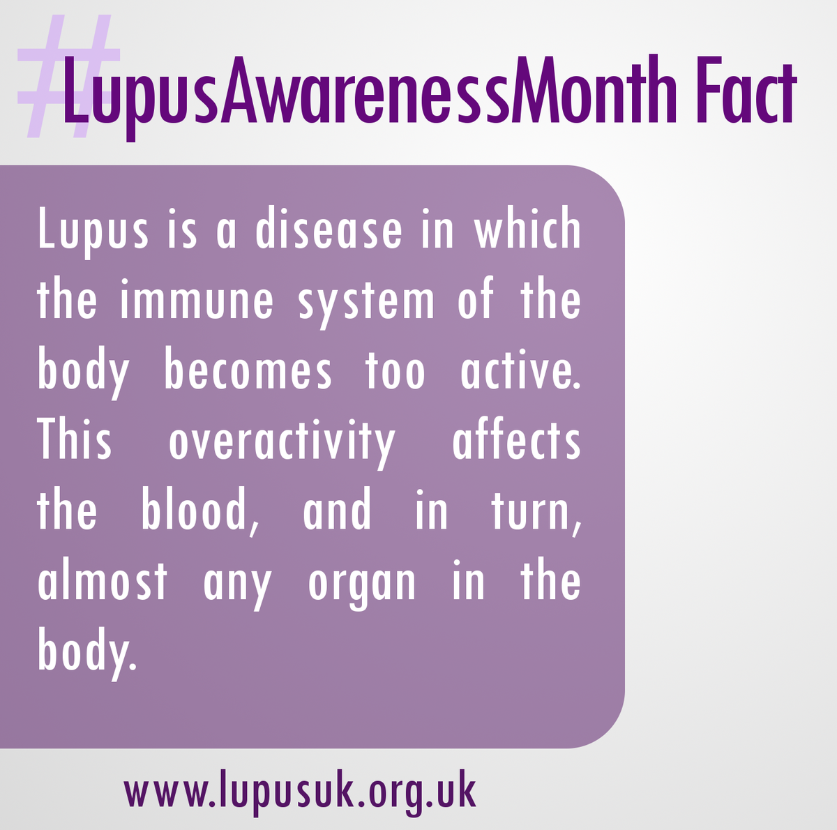 It's #LupusAwarenessMonth We'll be sharing facts through October for you to RT Learn more at http://t.co/XhLZbU4c8p http://t.co/Gryste85uX