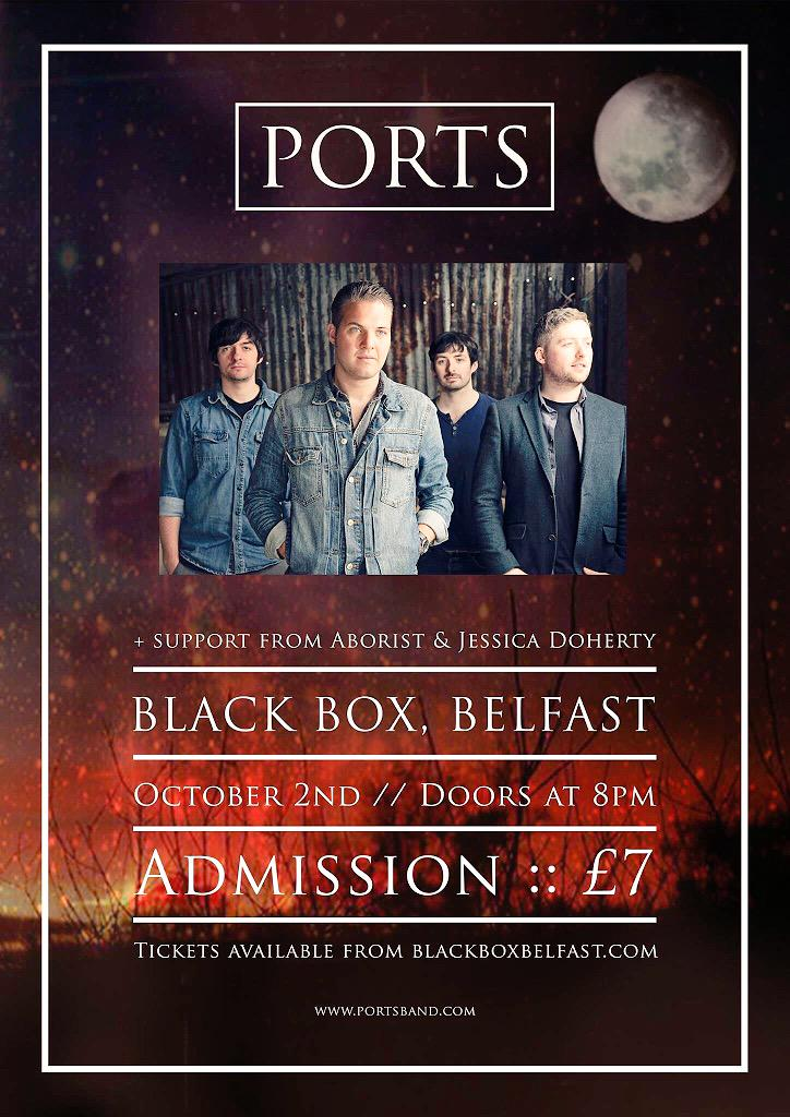 Brilliant gig for you this Friday night with @PORTSband @arboristmusic and Jessica Doherty £7 http://t.co/ifX0gzO9lE
