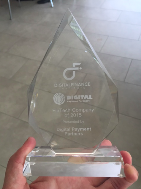 "We are so proud to announce we won the ""FinTech Company of 2015"" award #dfi2015 http://t.co/OUs4taUd3c"