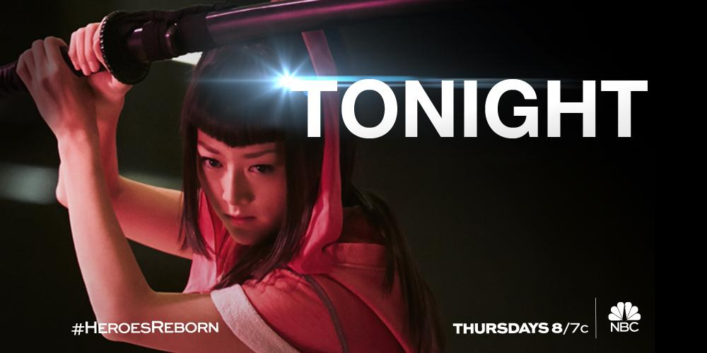 The saga continues with an all-new episode of #HeroesReborn, tonight at 8/7c on NBC. http://t.co/LlZPszJG35