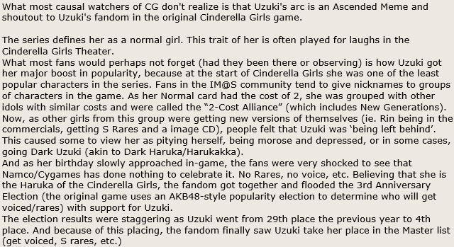 Huh, interesting tidbit about Uzuki from #imas_cg http://t.co/calvlgYIOu