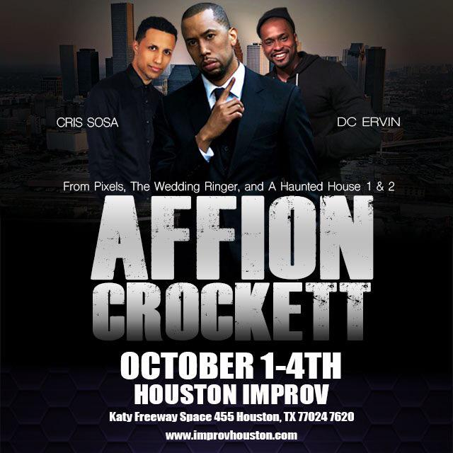Houston Improv we kick off THIS WEEK!!!! I'm with the big bro @AFFIONCROCKETT and young @crissosa http://t.co/MgHZ2Geob4
