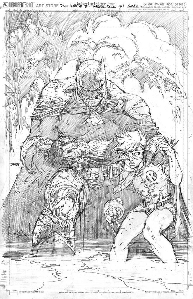 Just finished my penciled Dark Knight 3: The Master Race variant cover #batman #dccomics #carriekelley #firstlook http://t.co/teARb78X8i