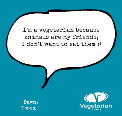 I'm a veggie because ......#worldvegetarianday http://t.co/DKVVwlD3jL