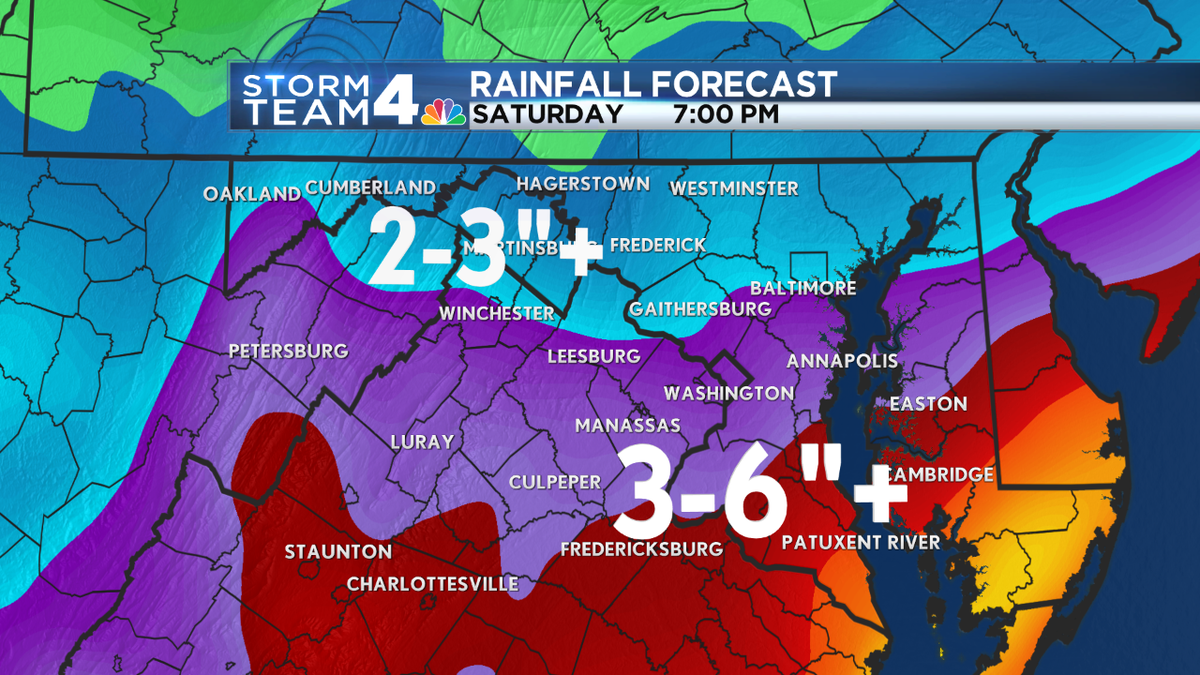 Computer generatated rainfall amounts with 1st round of rain-Thurs through Sat. PM (not Joaquin) @wtop @nbcwashington http://t.co/IMW6MxTMMN