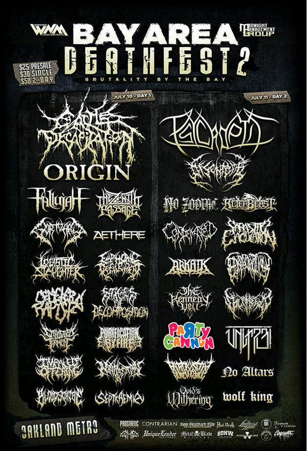 Nunca me ha atraido el Death Metal, pero me intriga Party Cannon tras ver este póster de un megaconcierto. http://t.co/Ga1vxdfPWr