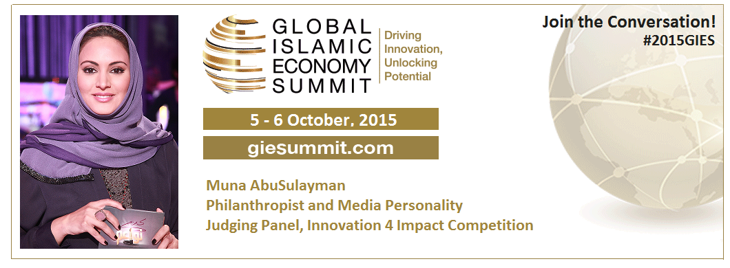 Join us with @MunaAbuSulayman who was named of the most influential Arabs & Muslims in the world in #2015GIES, Dubai http://t.co/qHrARHOod1