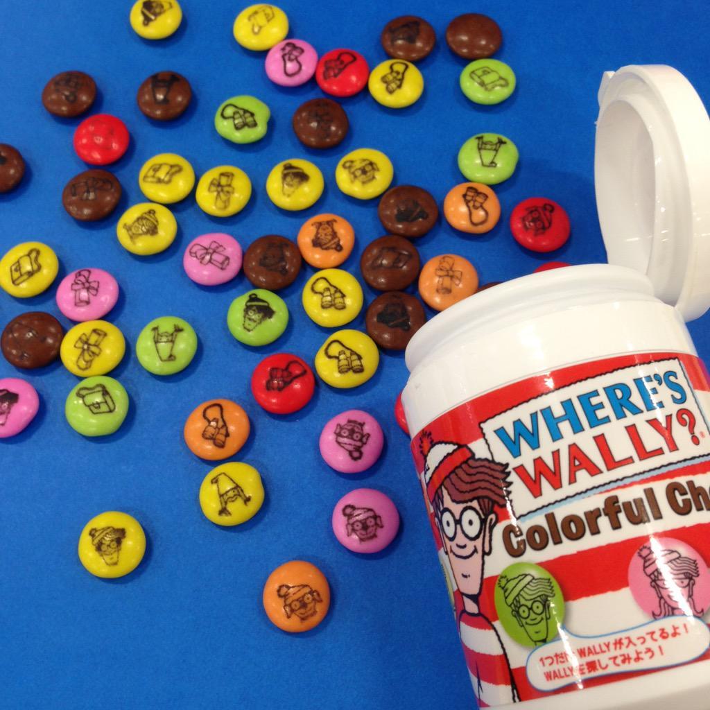 チョコレートの中から #ウォーリーをさがせ !ボトルの中に #ウォーリー は1粒だけですよ❤️ http://t.co/kliN16TK6n