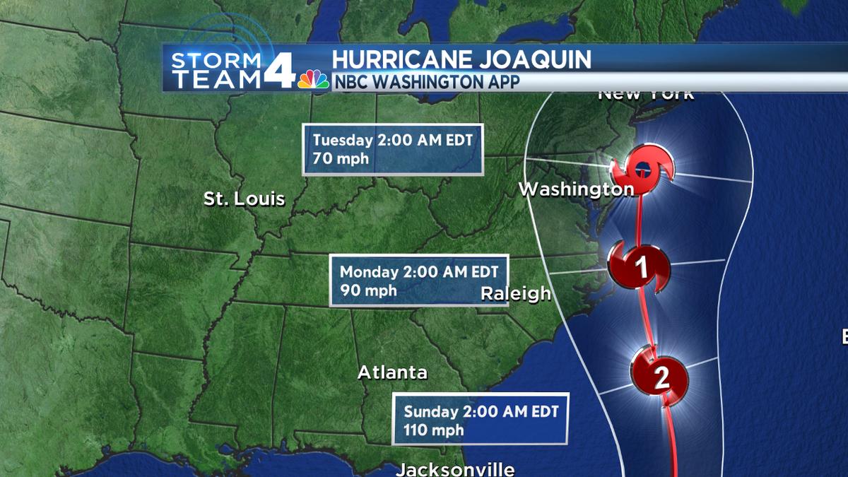 Lauryn Ricketts (@laurynricketts): Latest track now keeps #HurricaneJoaquin off east coast through early next week-still rains/wind @wtop @nbcwashington http://t.co/p3Saezlfd7
