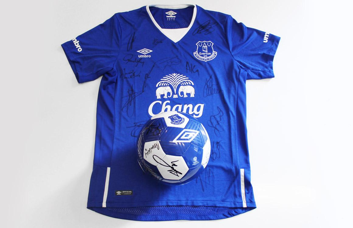 WIN! Ahead of Sunday's big game, just RT + follow @umbro to win a signed @Everton football and home shirt #EFC http://t.co/1YzwncujWU