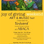 Do join us Sat 530 & the rest #JoyOfGiving @Toybank #ABACA @atulkasbekar @Purab_Kohli @suchitrapillai @VIVECKVASWANI