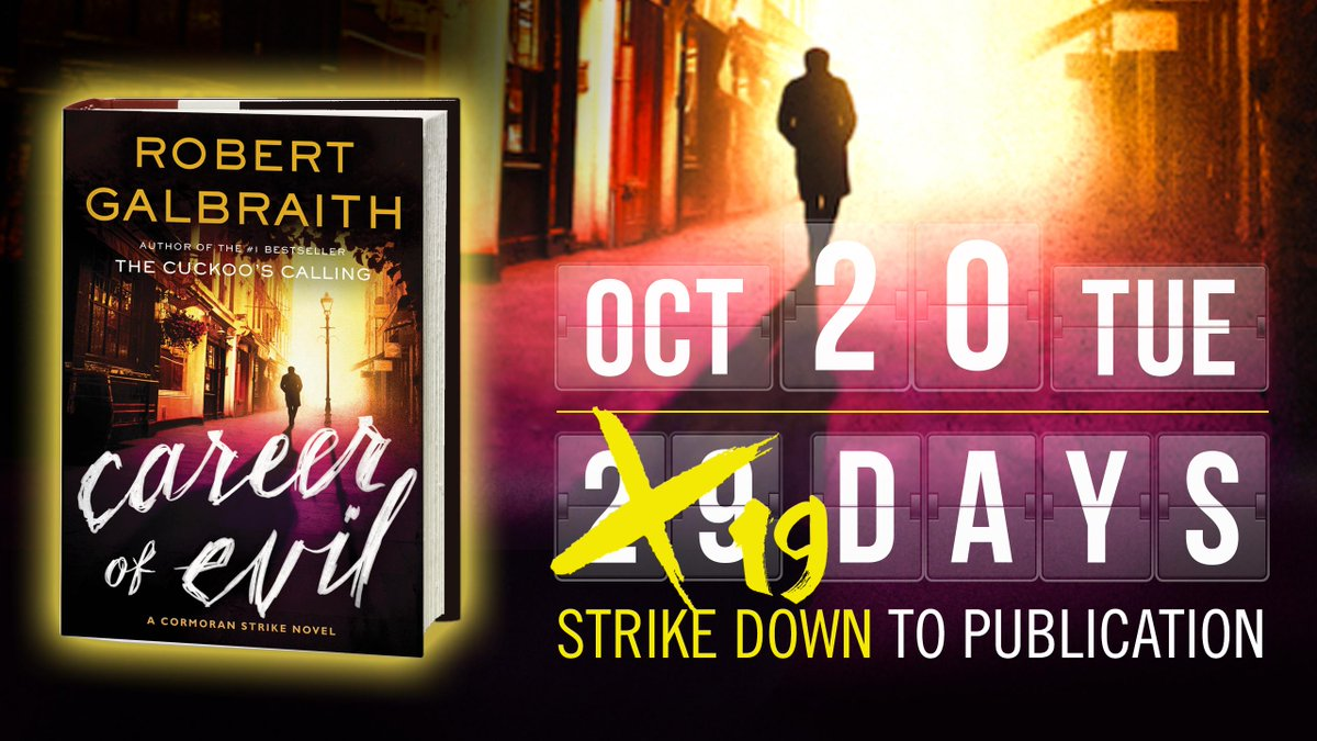 .@RGalbraith's new novel has just been designated one of the Best Books of October by @amazonbooks and @iBooks! http://t.co/awMngG0iSc