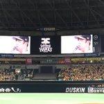 セレモニー終了後、松中コール!! 松中選手がファンに感謝の言葉を #sbhawks http://t.co/1QNrc3dvP9