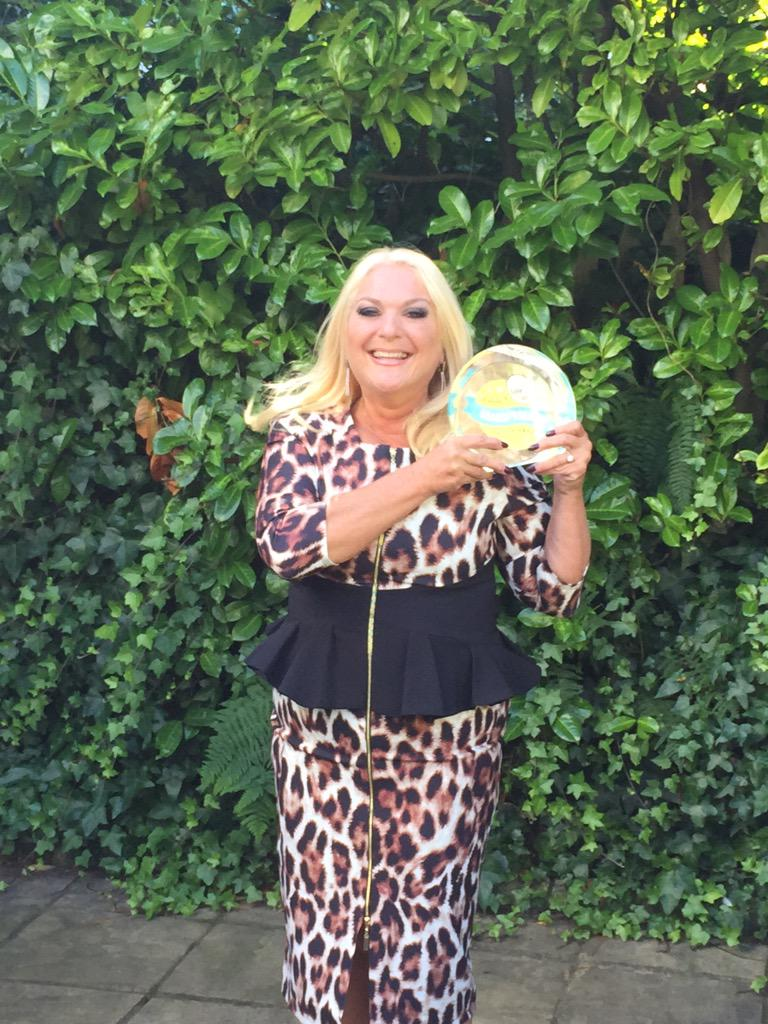 Here is Vanessa celebrating being crowned grandparent of the year! http://t.co/jkRpGlFqq2