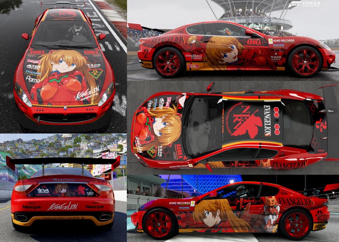 エヴァ(アスカ)シェアしてます。 ■車種:Maserati GT-S ■検索キーワード:キャラクター asuka #Forza6 http://t.co/MSYUqizooY