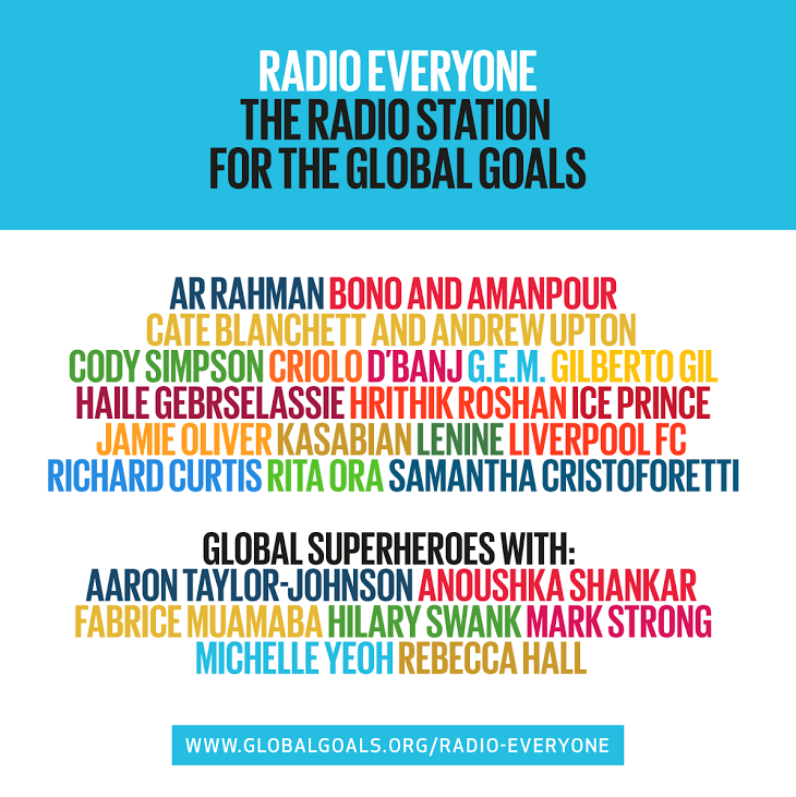 RT @FoodRev: Songs to change the world. Including @jamieoliver's very own. http://t.co/VwIHvxrI2r #GlobalGoals #TellEveryone http://t.co/pm…