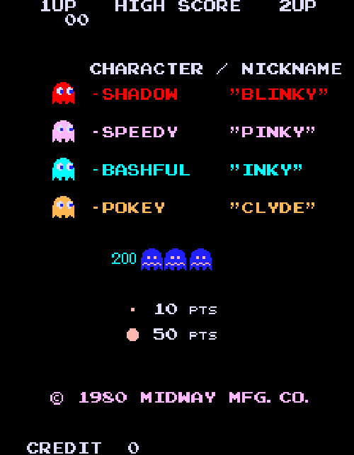 Each #PacMan ghost is programmed to chase the hero differently.  https://t.co/Zar0kFZ8yO https://t.co/Q9sYWCLASD