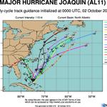 RT @katebilo: Wow- latest spaghetti plots really illustrate that #Joaquin is headed out to sea. I won't sleep easy until I see it.