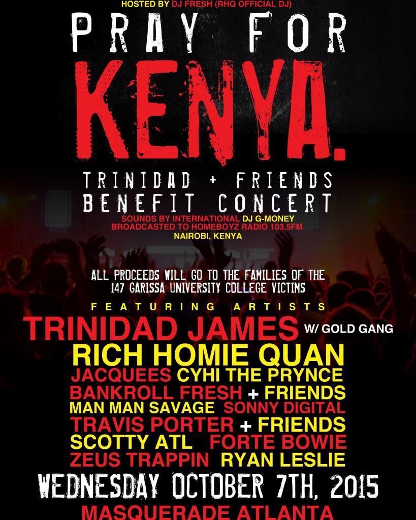 "Trinidad & Friends Concert ""Pray For Kenya"" @Trinidadjamesgg @ScottyATL @CyhiThePrynce http://t.co/ICeQhHtCsb http://t.co/UaIhNeik5H"