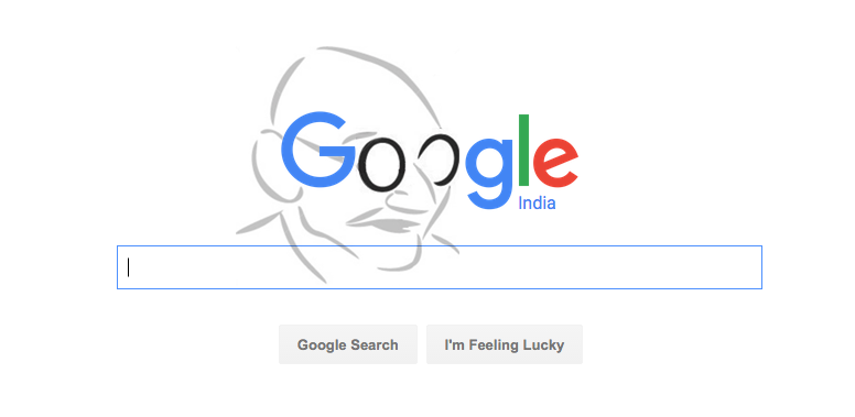 No Gandhi @google doodle today so I thought I will make one. http://t.co/JusjFYD2Iz