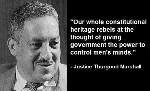 Thurgood Marshall sworn in as SCOTUS justice, becoming 1st African-American to serve on the high court, today/1967 http://t.co/HRuMzYQVdG