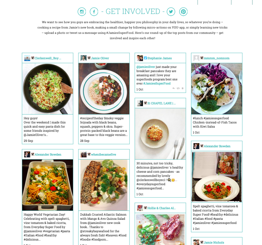 top posts from #JamiesSuperFood this week get involved and inspire each other! http://t.co/hy5BsP1OPx http://t.co/i1urYNLesM