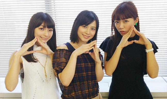モモラジR取材完了ー! 津田美波さん×高野麻里佳さんに、三森すずこさんがゲストで登場ー!! 美女3人の艶姿をお贈りします