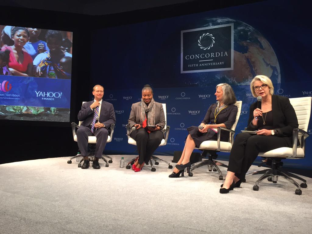 @pinkredribbon has screened more than 6,000 women for BC and given 40,000 HPV vacs in LRCs! #Concordia15 #P3 http://t.co/ZspGbQpPWX