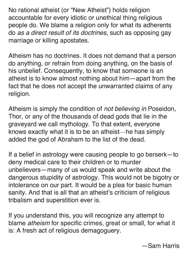 For those who are confused (or pretending to be confused) about what atheism actually is. http://t.co/P5cBKcRwhc
