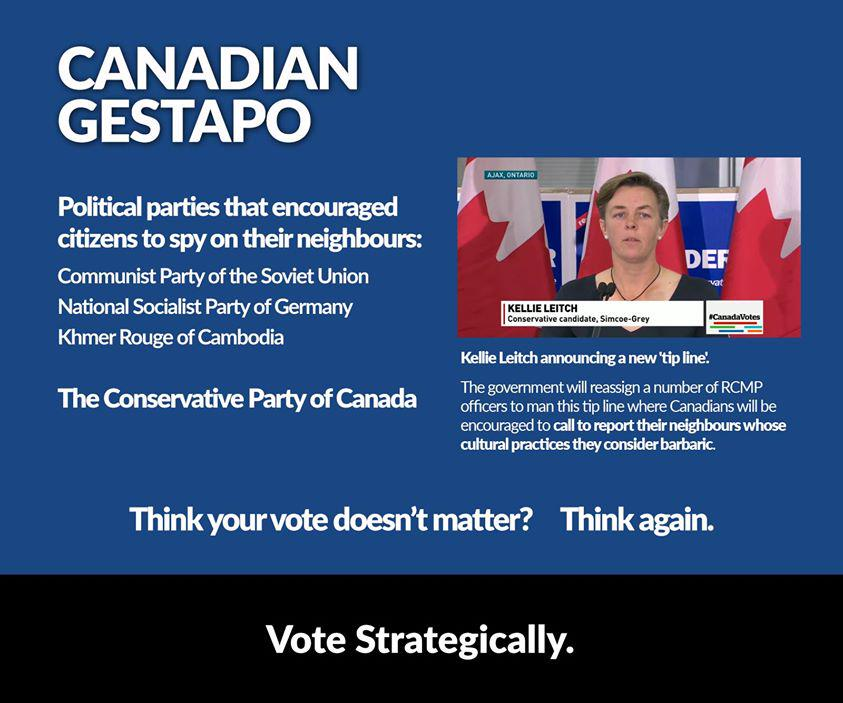 "Canadian Gestapo? #SoftFascism, for the win! #elxn42 #HeaveSteve #BarbaricCulturalPractices http://t.co/nEV6guIUSZ"" http://t.co/o5qNxGxMXp"
