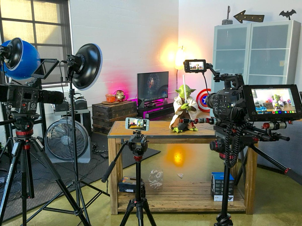 What the office looks like when YouTubers visit. http://t.co/DovmPvR5BR