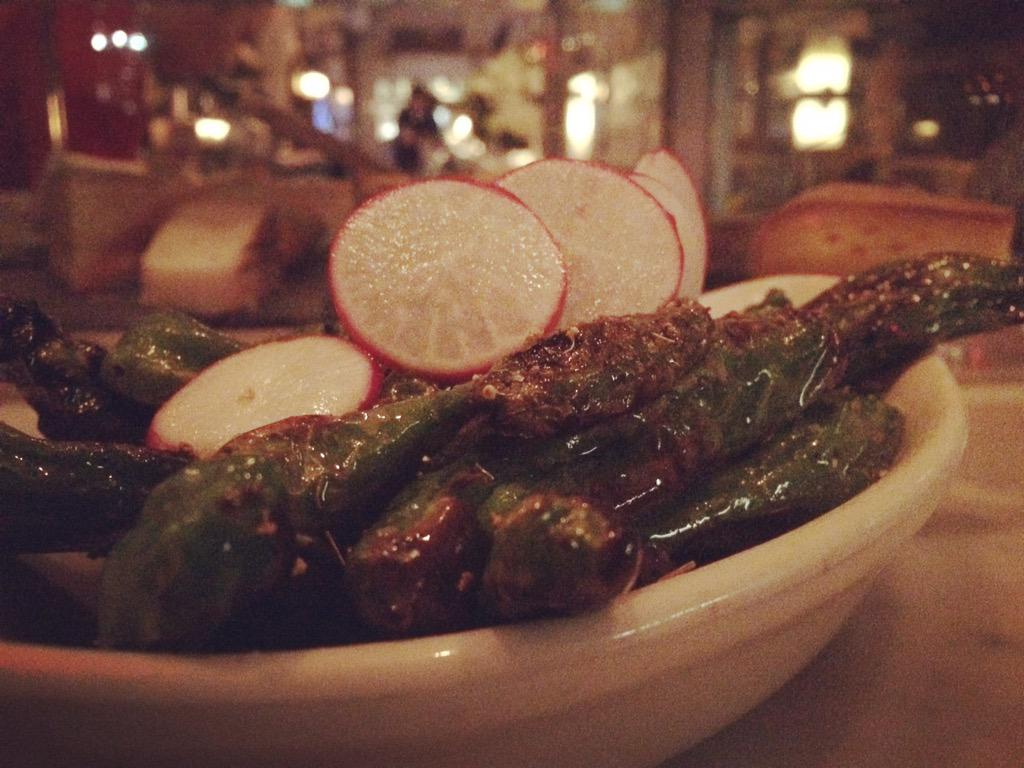 These blistered Shishito Peppers are rocking our tastebuds! Have you ever tried them? #nyc #foodpics #foodporn http://t.co/dElpYk01So