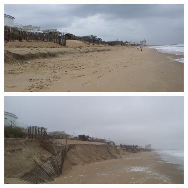 Before & after on croatan beach, va. severe #erosion ...