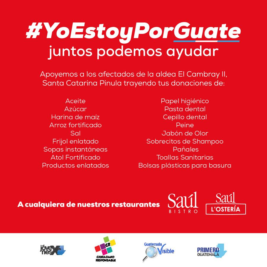 Juntos podemos ayudar #YoEstoyPorGuate Arriba Guate!!! http://t.co/rNeOXTSSTx