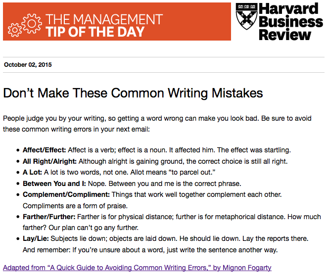 Today's management tip: Stop making these common writing mistakes http://t.co/hEwlYKJp3T