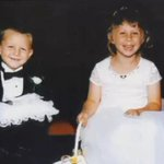 Ring bearer and flower girl walk down the aisle in the same church 17 years later. http://t.co/wxOF6Ux0tc http://t.co/R3SusT3LTR