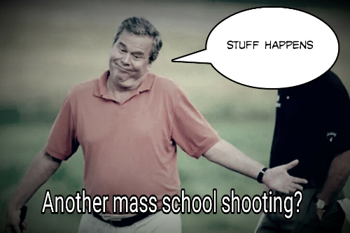 #ImEmbarrassedToTellYou this man wants to be your president. #stuffhappens #fb #jebb #uccshooting http://t.co/5e6BMTaWvr