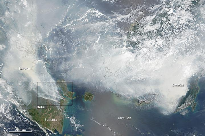 Sumatra, Borneo on fire as seen by @NASA_EO, explained by scientists: http://t.co/00ZFpg3qvN http://t.co/X2FABBWzdn