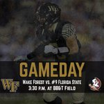 Its gameday! The Deacs look to knock off #9 Florida State on ESPN. GAMEDAY CENTRAL: http://t.co/uvt5AmobPe http://t.co/G62UHHjjdp