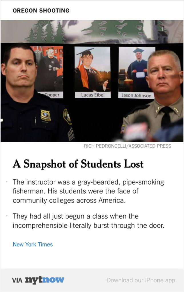 Notable: this @nytimes story about the shooting victims does not name the gunman once: http://t.co/YEOle7iIAk http://t.co/nLMZ5mXg8a